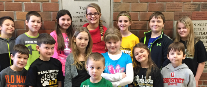 February Elementary Students of the Month