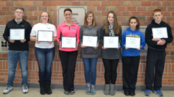Students in Mrs. Klir's Advanced Nutrition class recently became certified for the Ohio Level 1 Food Safety