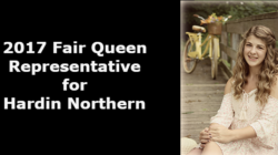 2017 Fair Queen Representative for Hardin Northern