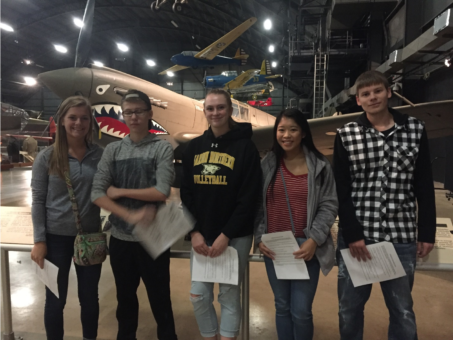 Students at National Air Force Museum