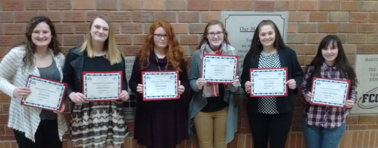December, January, and February Elks Teens of the Month