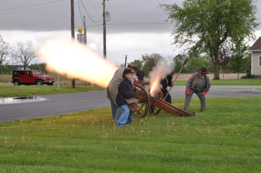 Everybody had a blast at the cannon demonstration.