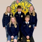 Hardin Northern First-Year FFA Members Awarded Blue Jackets