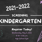 2021 Kindergarten Screening
